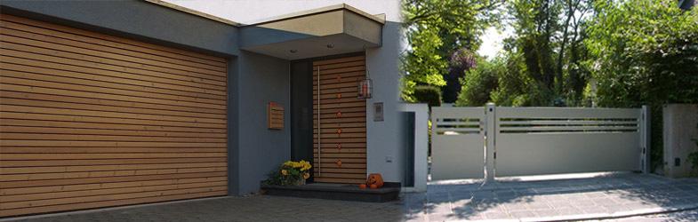 Doppelgarage modern holz  RUKU-BÖBLINGEN | exklusive Haustüren | Garagentore | Hoftore