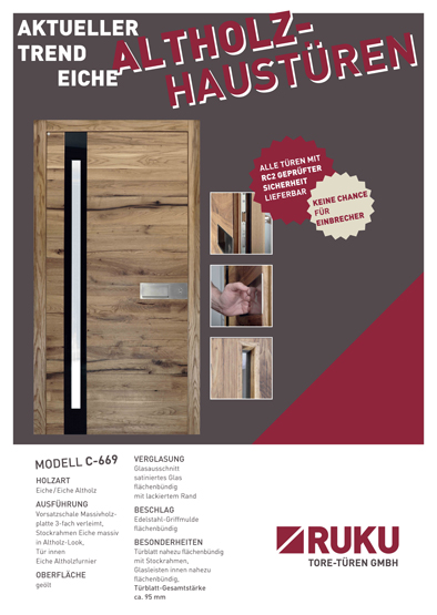 Haustüren altholz  RUKU-STUTTGART | HAUSTÜREN mit Eiche-Altholz